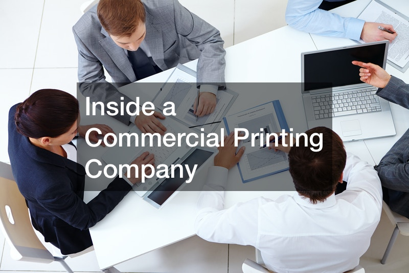 Inside a Commercial Printing Company